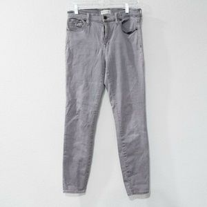 Madewell High Riser Gray Skinny Jeans Women's 28